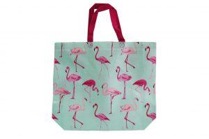 015. Non woven tas flamingo blauw (10 st.)