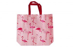 015. Non woven tas flamingo roze (10 st.)