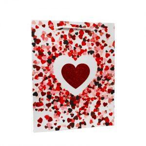 001. Verpakking hart rood