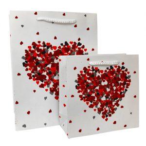 001. Verpakking hart wit