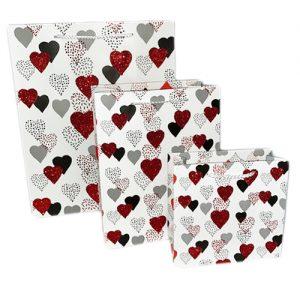 001. Verpakking hart zilver