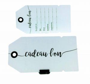 051. Gift voucher label white