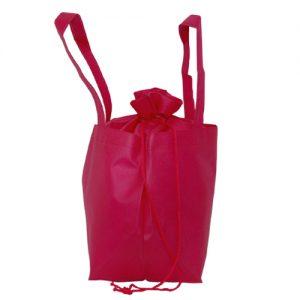 005. Non woven aantrek buideltas roze (10 st.)