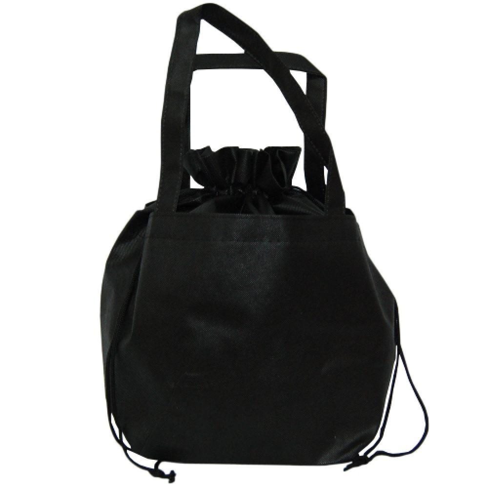 Non woven - Zwarte aantrek tas