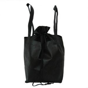 005. Non woven aantrek buideltas zwart (10 st.)