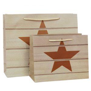 001. Verpakking ster hout kleur