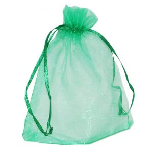 008. Organza packaging green (50 pcs.)