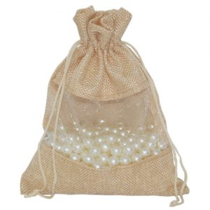 008. Organza packaging jute mesh brown (25 pcs.)