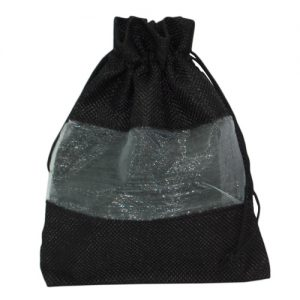 008. Organza packaging jute mesh black (25 pcs.)