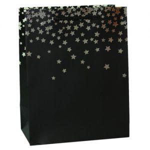 003. Verpackung Glitzerstern schwarz