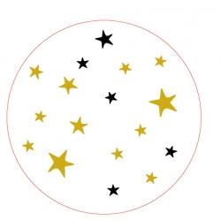050. Stickers tekst 'kerst sterren'