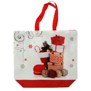 015. Non woven tas kerst laars