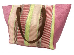 012. Beach bag yellow pink