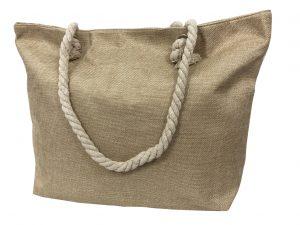 Strandtasche – strandtasche Glitzer creme
