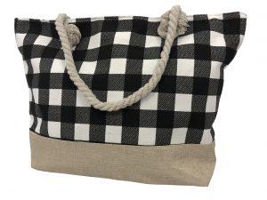 Strandtasche – strandtasche Diamant schwarz