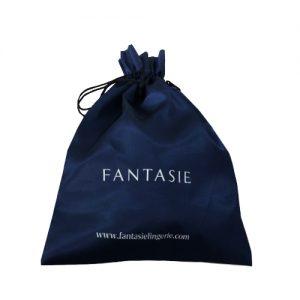Satin Organza Tasche mit Logo-Print
