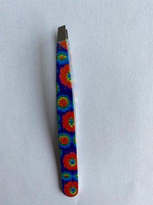 056. Tweezer blauw bloem