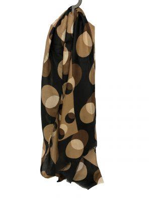 030. Scarf dot brown