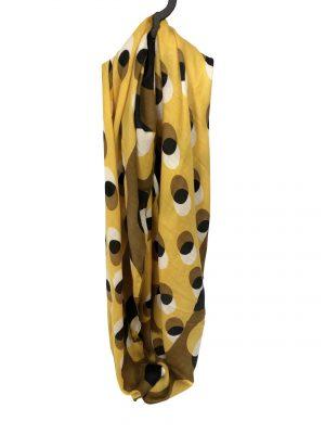 030. Scarf dot yellow