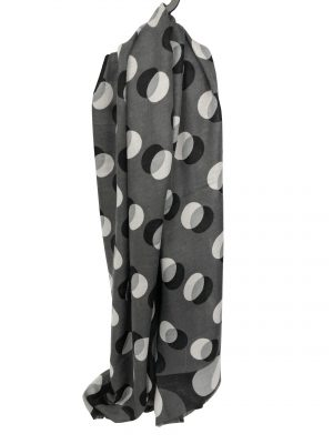 030. Scarf dot grey