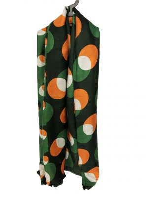 030. Scarf dot green