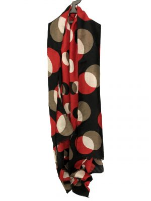 030. Scarf dot red