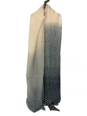 030. Scarf stripe blue/cream