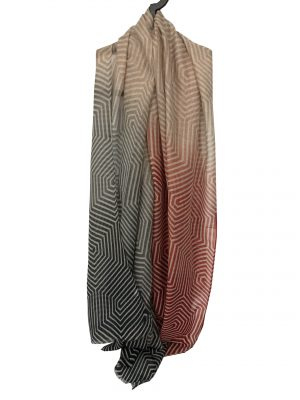 030. Scarf stripe blue/red