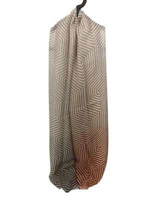 030. Scarf stripe brown/rust