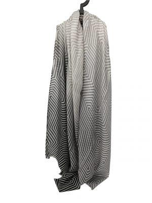 030. Scarf stripe grey