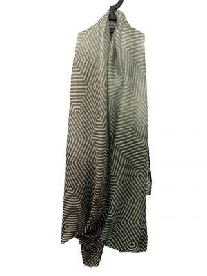 030. Scarf stripe green/brown