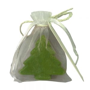 038. Kerstboom zeepjes pakket (50 zeepjes+50 organza zakjes+50 tags)