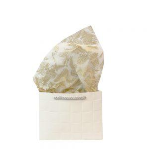 Vloeipapier – vloeipapier veer goud 50×70 cm (leverbaar vanaf week 41/42)