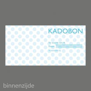 051. Kadobon stip blauw