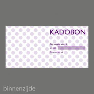 051. Kadobon stip paars