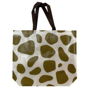 Non woven tas – Gelamineerd giraffe groen(10st.)
