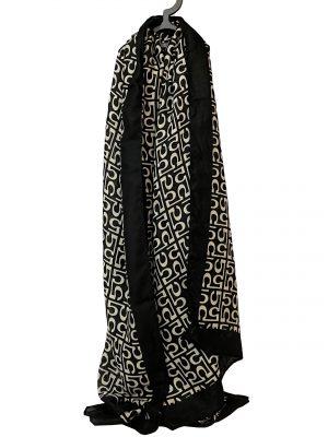030. Sjaal 5 zwart/ creme