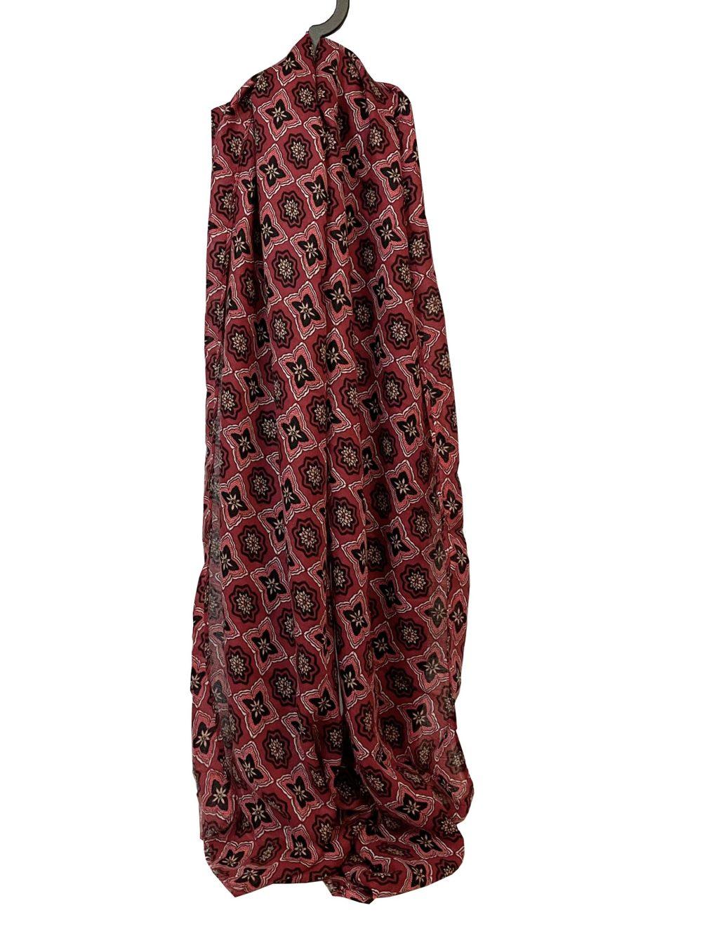 Sjaal bloem ruit rood